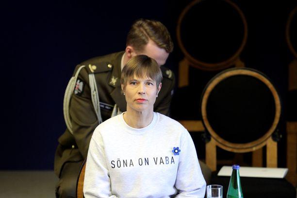 Presidentti Kersti Kaljulaid otti kantaa asuvalinnallaan.
