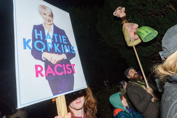 Katie Hopkins on kerännyt tukun rasistisyytöksiä mielipiteillään vuosien mittaan.