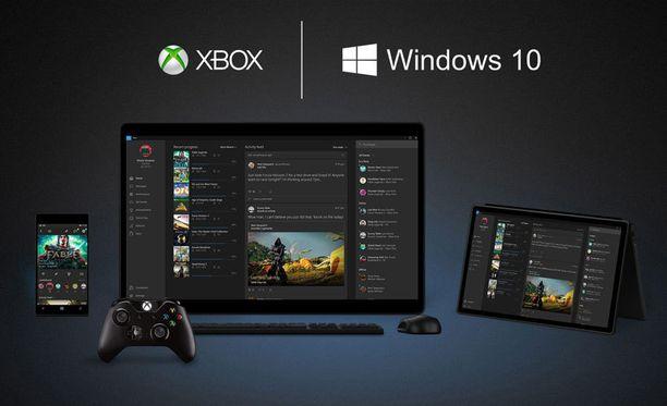 Xbox ja Windows 10 ovat läheisissä väleissä.