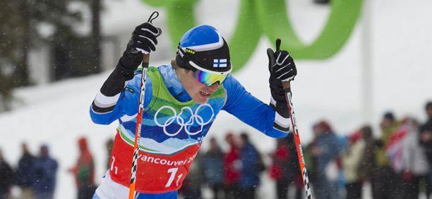 Janne Ryynänen oli ainoana suomalaisena hiihtoonsa tyytyväinen.