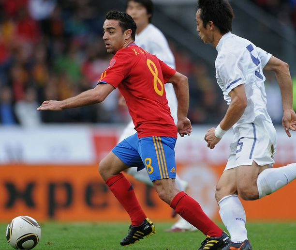 Xavi (vas.) on Espanjan pelin sielu.