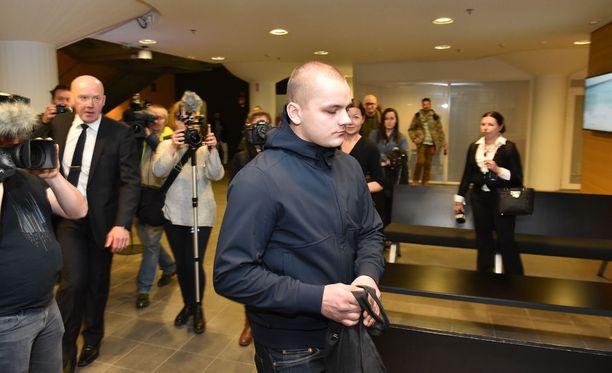 Jesse Torniainen ei peitellyt itseään oikeudessa 21. joulukuuta.