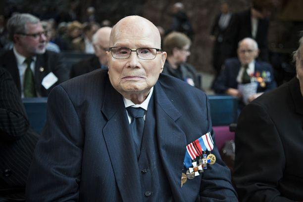 Sulo Aalto on yksi Kaunialan veteraaneista, jotka tulivat konserttiin.