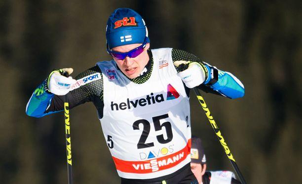 Matti Heikkinen oli kolmas yhdistelmäkisassa.