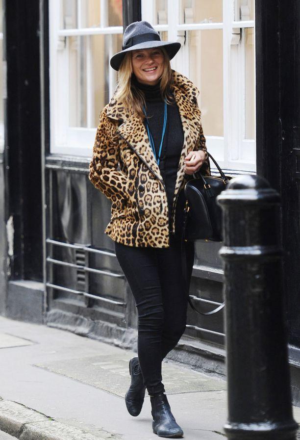 Kate Moss lempitakissaan vuonna 2013.