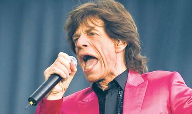 Mick Jagger oli vedossa.