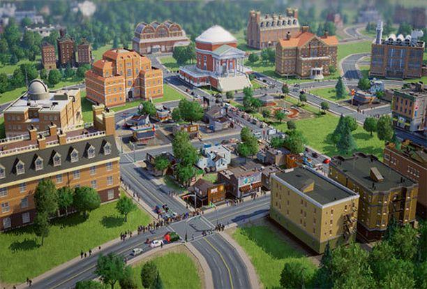 SimCityssä rakennetaan kaupunkia tiukan budjetin puitteissa.