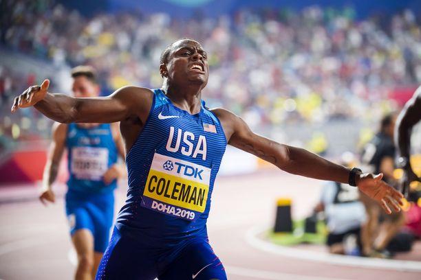 Christian Coleman juhli Dohassa.