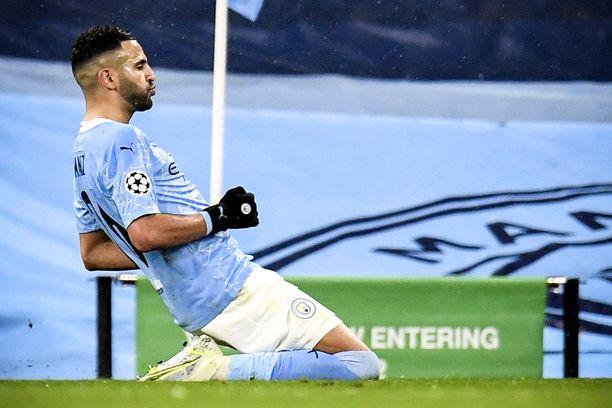 Manchester Cityn Riyad Mahrez viimeisteli molemmat maalit Manchester CItyn 2–0-voitossa.