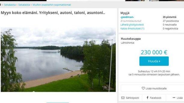 Matti Ylitalo pohtii, että olisi mahdollisesti saanut paremmat rahat myymällä omaisuutensa pikkuhiljaa osissa pois. Siinä voi kuitenkin mennä liikaa aikaa. Ei sillä ole suurempaa merkitystä, saako 5 000 euroa vähemmän, Ylitalo sanoo.