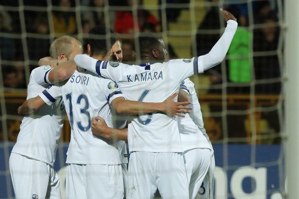 Suomi nappasi Armeniaa vastaan kolme pistettä 2-0-voitolla.