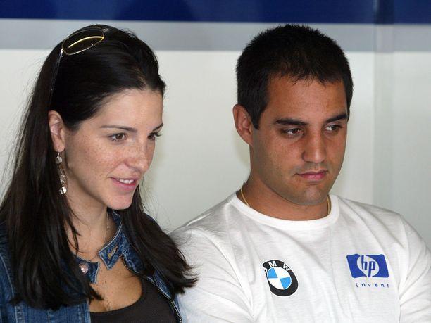 Williamsilla ja McLarenilla kilpaillut Juan Pablo Montoya ajoi F1:ssä kaikkiaan 94 GP-starttia vuosina 2001-2006. Kuvassa myös hänen Connie-vaimonsa.