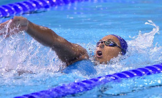 Mimosa Jallow ui uuden Suomen ennätyksen.