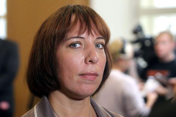 Viron opetusministeri Mailis Reps eroaa tehtävästään. Kuva hänestä otettu vuonna 2016.