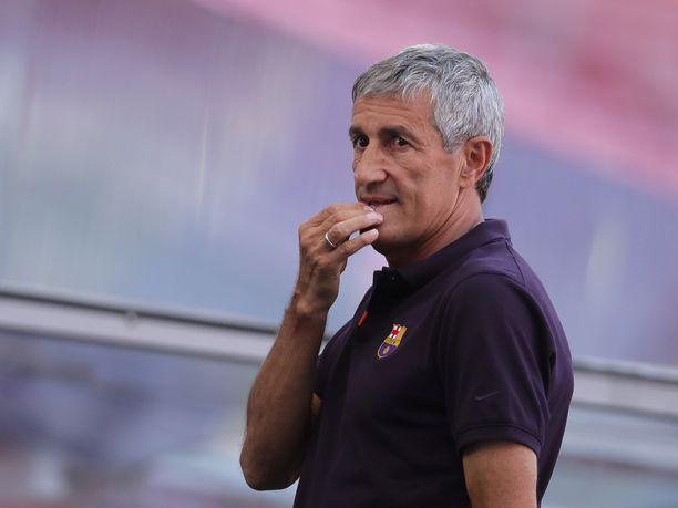 Quique Setién ehti luotsata Barcelonaa vain 25 ottelussa.