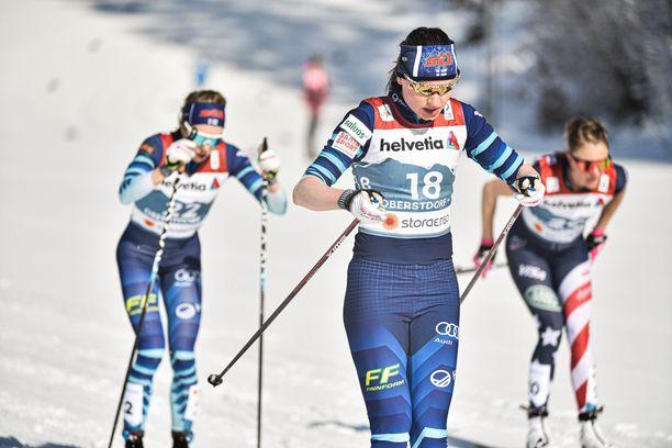 Johanna Matintalo oli kolmastoista MM-kisojen kuningatarmatkalla.
