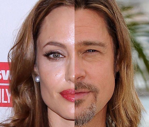 Angelina Joliella ja Brad Pittillä on sama vahva leuka ja kapea nenä.