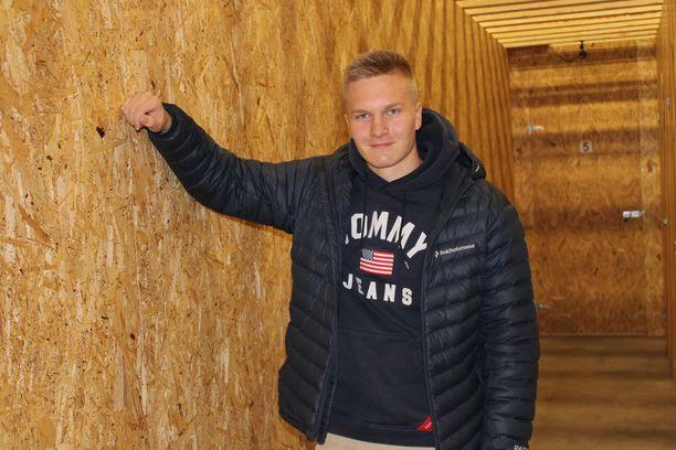 Veeti Lahdensuo on nuori yrittäjä.