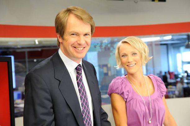 MTV käynnistää yt-neuvottelut. Potku-uhka ei koske päätoimisia uutisankkureita. Kuvassa MTV:n ankkurit Peter Nyman ja Maija Lehmusvirta.
