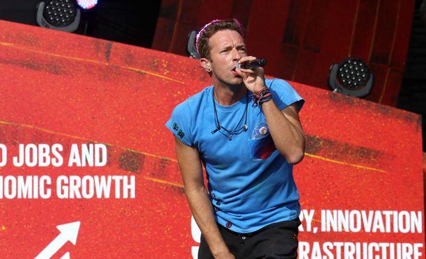 Chris Martin esiintymässä syyskuussa Keskuspuistossa Central Parkissa New Yorkissa.