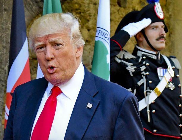 Presidentti Donald Trumpin viimeinen matkakohde oli Sisilia.