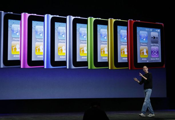 Havainnollisessa esityksessä käytiin läpi uuden iPod Nanon ominaisuuksia.