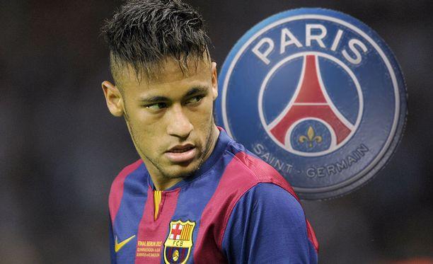 Neymar sai Ranskan liigan taakseen Espanjan liigaa vastaan.