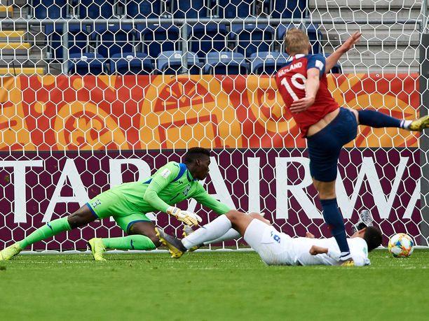 Erling Håland iski yhdeksän palloa Hondurasin verkkoon torstai-iltana.