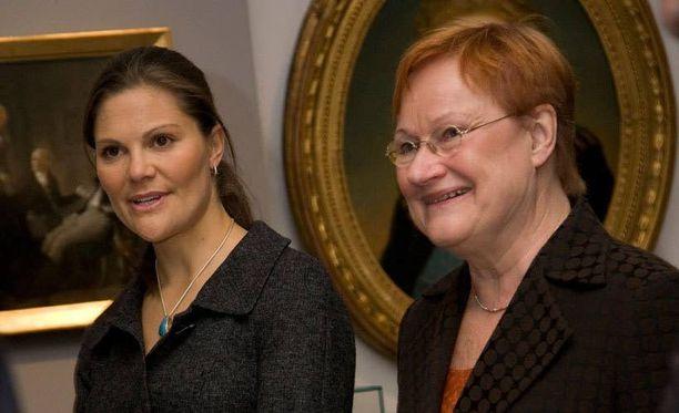 2008. Victoria presidentti Tarja Halosen vieraana Helsingissä.
