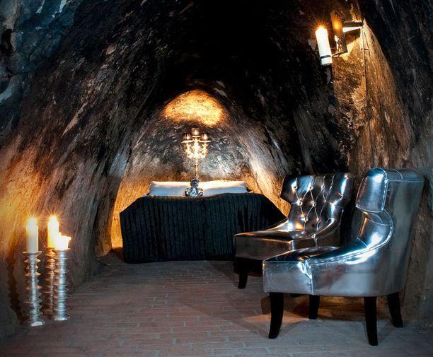 Tämä hotellihuone sijaitsee vanhan hopeakaivoksen uumenissa.