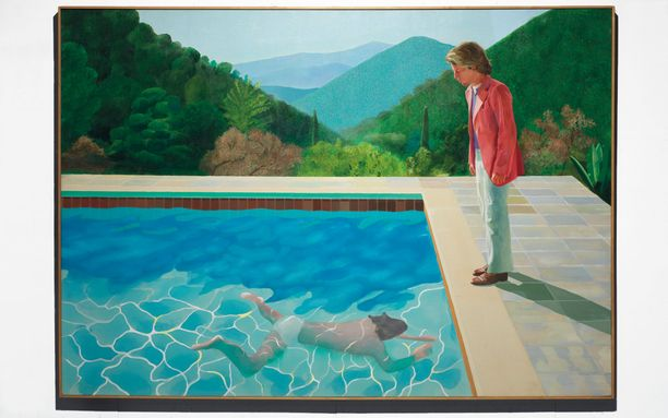 Brittitaiteilija David Hockneyn teos Potrait of an Artist (Pool with Two Figures) oli edellinen hintaennätyksen haltija.