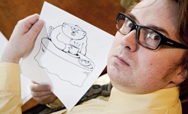 Pertti Jarlan luoman Fingerpori-sarjakuvan omintakeinen huumori on uponnut suomalaislukijoidejn sydämiin.