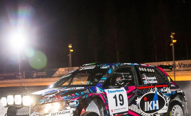 Kalle Rovanperä on osoittanut lahjakkuutensa uran ensimmäisessä SM-rallissa.