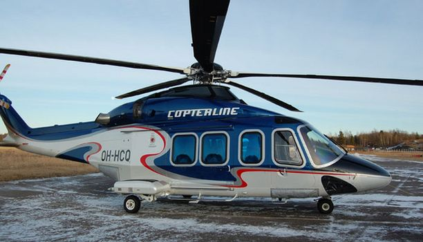 Reittilennot aloitetaan Agusta Westlandin AW139-helikopterilla.