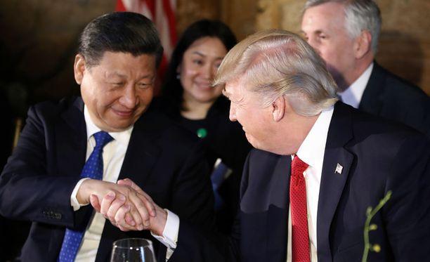 Yhdysvaltain presidentti Donald Trump ja Kiinan presidentti Xi Jinping tapasivat torstaina Trumpin yksityisellä loma-asunnolla Mar-a-Lagossa Floridan osavaltiossa.