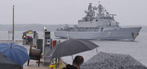 Miinalaiva Pohjanmaan matka Afrikan itärannikolta Suomeen kesti noin kolme viikkoa.