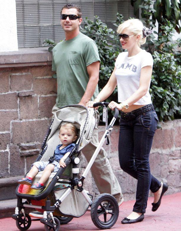 Gwenin ja Gavinin esikoispoika Kingston täyttää toukokuussa kaksi vuotta.