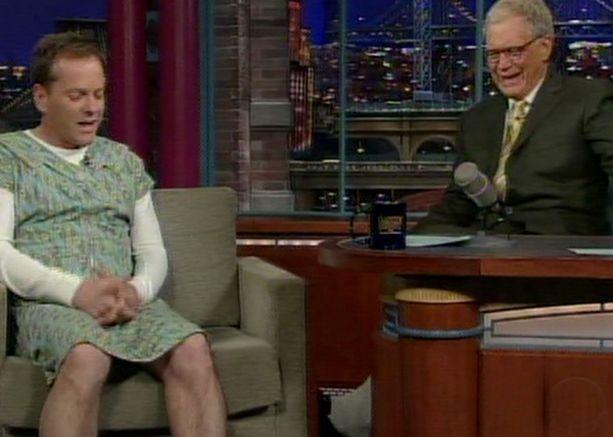 Kiefer Sutherlandin asuvalinta kummastutti niin David Lettermania kuin hänen ohjelmansa katsojiakin.