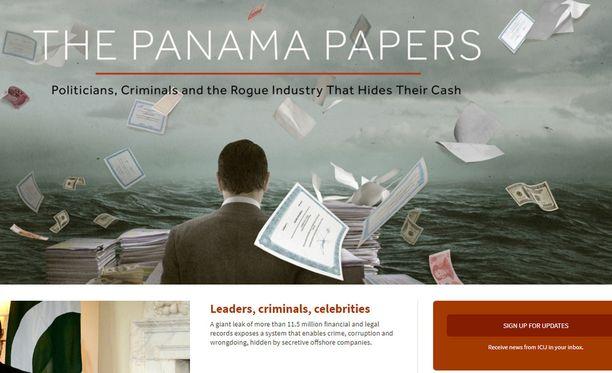 Kuva: Panama-paperien perusteella tehtyjä paljastuksia on koostettu kansainvälisen journalistiverkoston (ICI) verkkosivuille panamapapers.icij.org.
