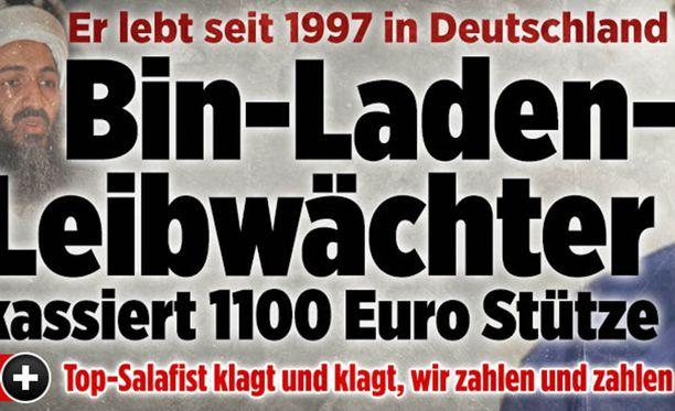 Osama bin Ladenin henkivartijan sosiaalituista uutisoi Bild-lehti.