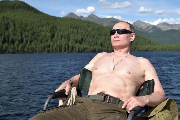 Venäjän presidentti paistatteli auringossa.