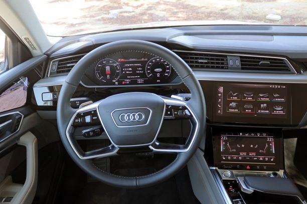 Ohjaamoa on tuttu kaikista uusista isoista Audi-malleista.