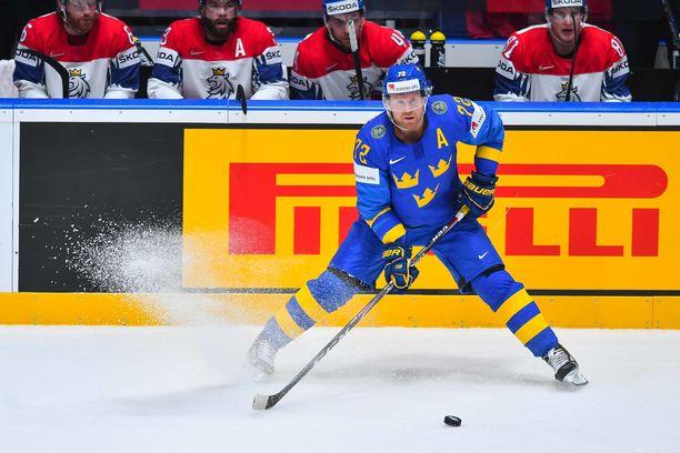 Patric Hörnqvist turhautui ja mussutti itselleen käytöskympin.