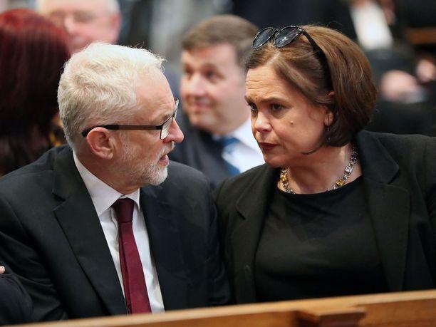 Jeremy Corbyn ja Mary Lou McDonald kuvattuna elokuussa 2019.