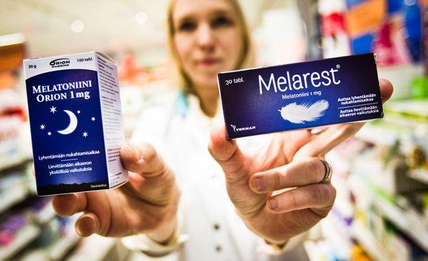 Melatoniinia saa apteekista ilman reseptiä.