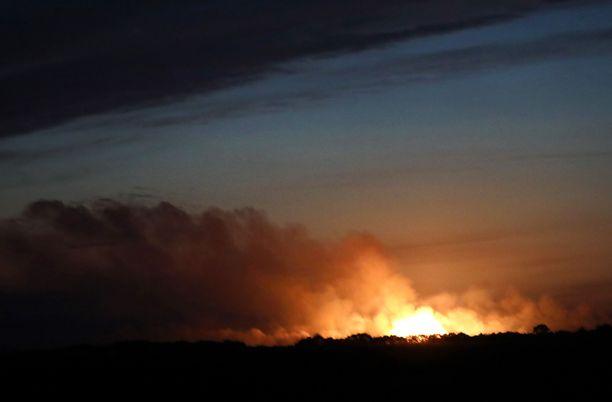Tiistaina aamuyöllä Ukrainassa Tšernihivin alueella räjähti ammusvarasto.