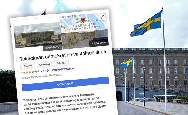 Google on korjannut kuninkaanlinnan nimen Iltalehden yhteydenoton jälkeen.