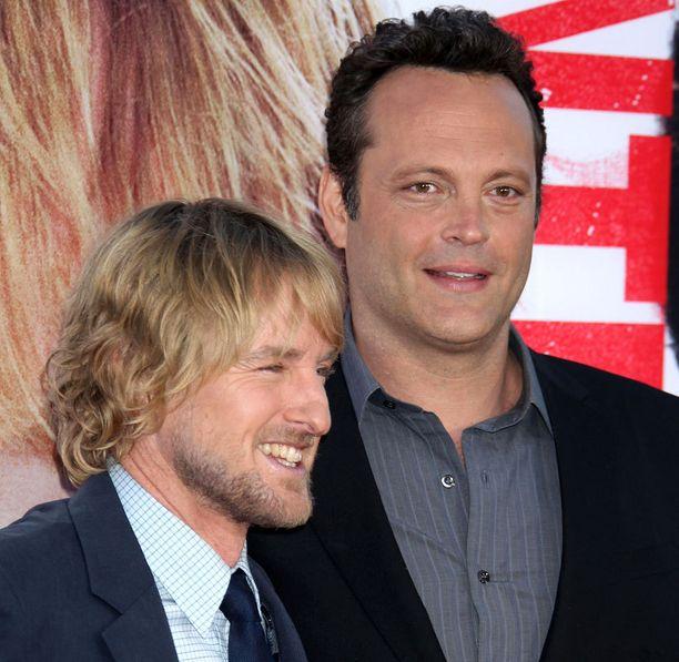 Vince Vaughn yhdessä aisapari Owen Wilsonin kanssa. Uuden elokuvan ensi-illassa Vaughn näytti paremmin levänneeltä.