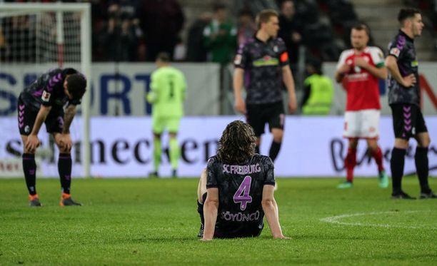 Freiburg hävisi erittäin tärkeän ottelun Mainzille 0-2. Ottelun avausmaalista puhuttaneen vielä pitkään.