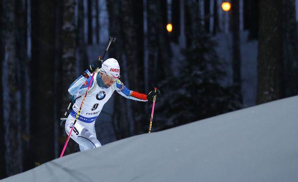 Kaisa Mäkäräinen menestyy kaukana Siperiassa.